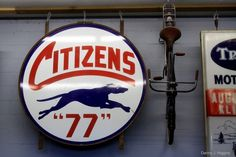 All sizes | Antique Archaeology. A Old Citizens 77 Sign & a Vintage Bicycle...IMG_9575 | Flickr - Photo Sharing! #type #signage