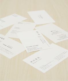 名刺|works|鈴木篤|atsushi suzuki design #white #business #card #japanese #minimalist #typography