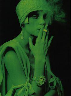 woman, smoke, photo