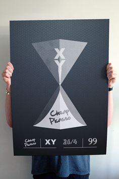 XY vs Cheap Picasso - Edinburgh #versus #print #hourglass #escher #sand #time #poster