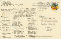 Lupi/Posavec #inforpgraphic #postcard