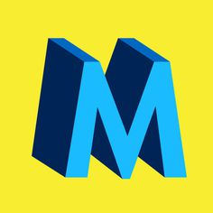 Colorful M for #36DaysofType by @collaborativesouls found on Instagram #type #letters #color #typography #bold #beautiful