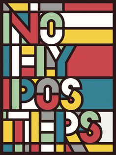 No Fly Poster #poster #typography