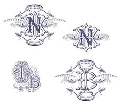 Typography by nadia #monogram