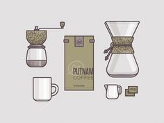 Coffee Collection #coffee #illustration #ryan #putnam