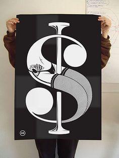 Slanted TypoBlog #type #poster