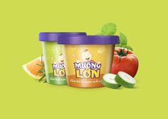 Muong Lon packaging #vietnam #lon #agency #branding #packaging #muong #kid #thit #thng #food #mncb #hiu #dng #logo #xy #bratus