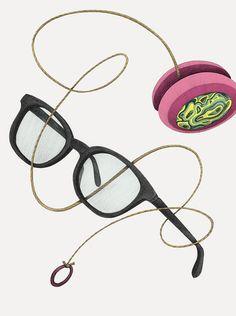Ad illustration for Herr Menig Optik, an optician in Nürnberg Germany - www.philippzm.com #glasses #yoyo #illustration #ad #drawing