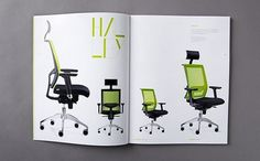 New Line Office - New Line Office - 2012 #chairs #design #catalogue #product #green