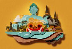 Bomboland / Colagene.com #buddha #zen #indonesia #dragon #temples #holidays #meditation #water