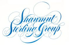 Typeverything.com SS Group by Herb Lubalin.(Viafromtheska) #lettering #herb #swash #lubalin #blue