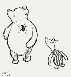 The Search for Small b #winnie #pooh #the #illustration #piglet #bear