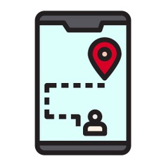 See more icon inspiration related to gps, mobile map, maps and location, ui, map location, placeholder, electronics, mobile phone, navigation, communications, smartphone, geolocalization, pin, interface, cellphone, map, location and technology on Flaticon.