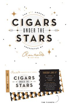 Cigars Under the Stars | Ashley Nicole #inspiration #logo design #packaging #design