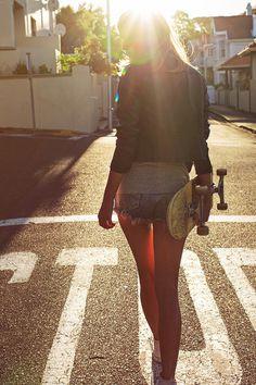 #sunlight #skater #woman