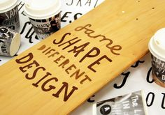 New Zealand's Best Graphic Design. #lettering #handlettering #skateboarding #charity #wood #handmade #autism #typography