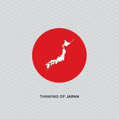 thinkingofjapan.jpg (480×480) #flag #design #graphic #thinking #love #japan