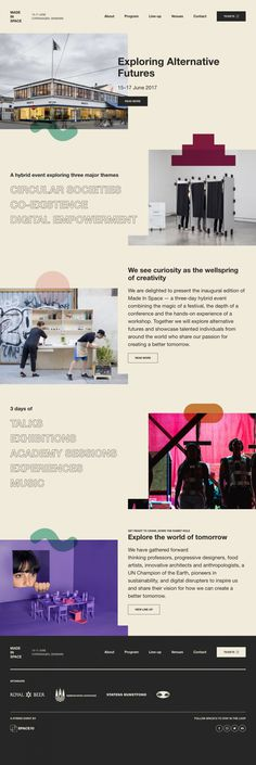 """Made in Space - Mindsparkle Mag - Exploring the world & work of SPACE10 with their festival """"Made in Space"""", whose cool and fresh website is"""