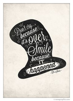 Dr.Seuss Handwriting Style Quote Print by NeueGraphic