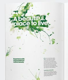 Mernda Village #plants #design #exhibition #nature #wall #leaves #graphics #brochure #typography