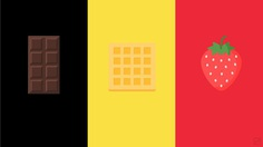 Belgium Flag and famous products by Frederatic