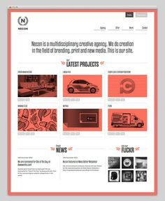 Necon #layout #website #web #portfolio