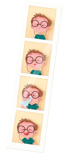 Maëlle Cheval #boy #kid #photoboot #illustration #cute