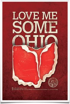 Love Me Some Ohio #ohio #design #poster