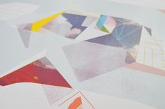 Berg Bild: Schall | The Ghostly Store #form #silkscreen #geometric #pastel
