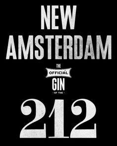 New Amsterdam Gin - Stopbreathing #print #ron #thompson #typography
