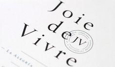 Joie de Vivre on Behance #raidho #branding #de #brand #arboleda #aesthetics #vivre #joie #logo #raidhomx