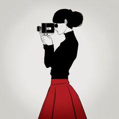 Silence Television #camera #photography #girl