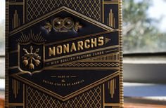 Neighborhood Studio MONARCHS #gold #design #black #typography