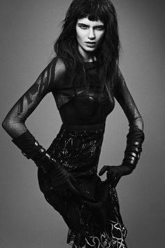 Nouk Torsing by Djamel Boucly in 'Fierce Creature' for FGR (5) #fashion #woman #black