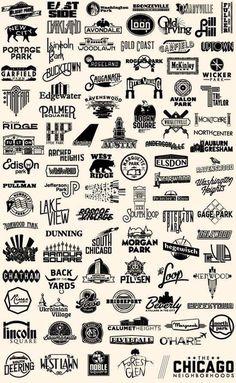 Chicago Neighborhood Logos - #branding #identity #logo