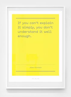 Image of Smile in the mind / No.4 #simple #yellow #poster