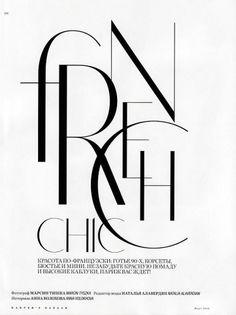 ru_glamour: Isabeli Fontana by Marcin Tyszka for Harper's Bazaar Russia March 2010 #typography