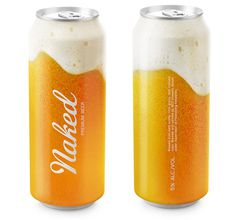 Naked Beer, putting the flavor on can   Designed by Timur Salikhov