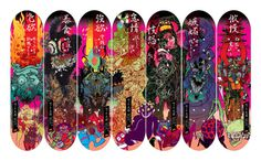 Seven Deadly Sins deck series from Instant Winner skateboards, Comic Style Geek Art By Nathan Fox