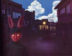 50 Watts #train #eyes #kid #rabit #cap #mutant #postcard #japan