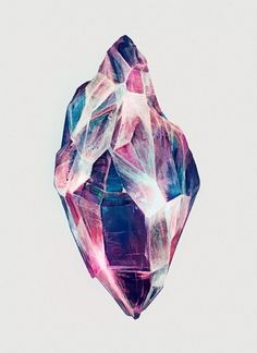 Diamond #abstract #geometry #crystal #color #karina #paint #illustration #eibatova #art