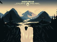 Angry Bear Website #illustration