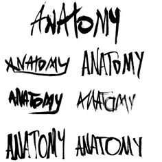 Anatomy -logo by w. #ink #handwriting #tomaszewski #anatomy #logo #handmade #type