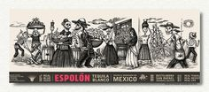 Espolon Tequila Packaging Illustrations on the Behance Network #white #tequila #mexico #black #illustration #and #death #sketch