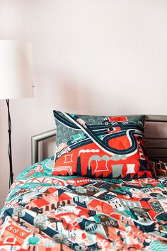 Pościel Miasto | Pan tu nie stał #interior #bedding #city #print #pillow