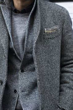 double tweed #fashion #mood #men #casual #shape #gray #grey