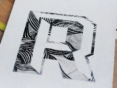 hand drawing + stencil #stencil #letter #drawing