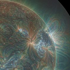 Amazing Solar Flare Eruptions Captured by NASAs Solar Dynamics Observatory sun space #rainbow #heat #prismatic #space