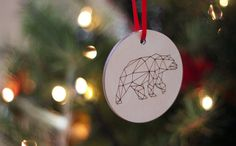 Kaldor Christmas Ornament #cut #laser #christmas #ornament #kaldor #bear #plywood