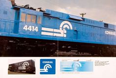 Container List: A stricter side of Palladino #tony #logo #palladino #identity #railway #conrail #blue